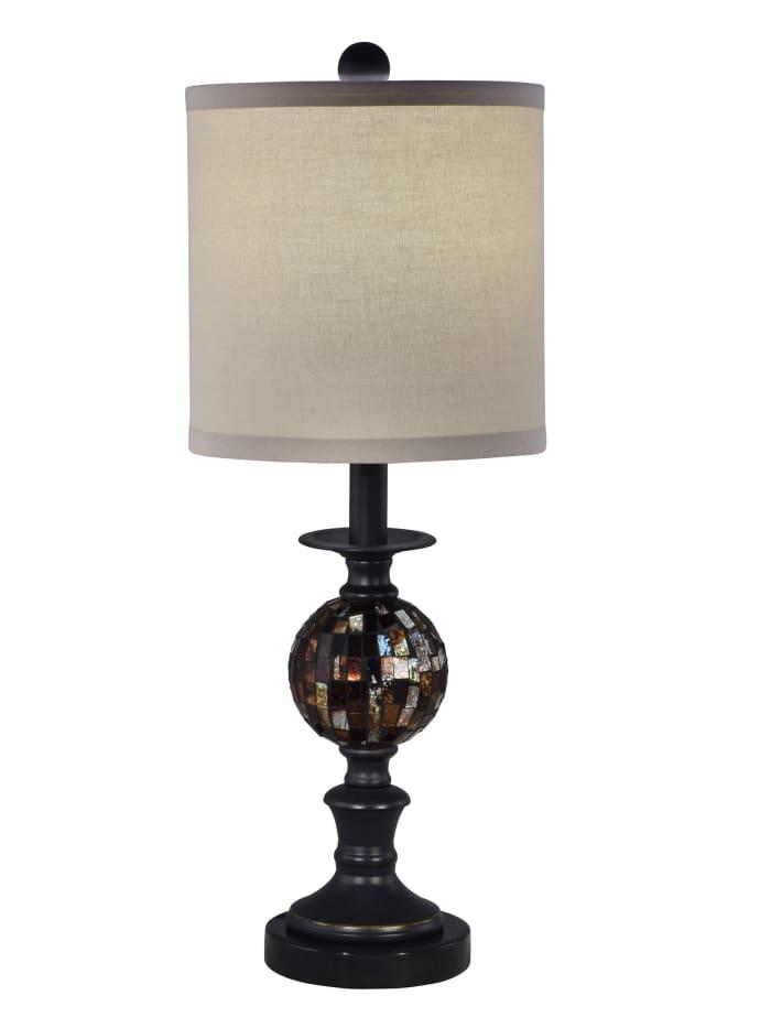 Cruz Mosaic Ball Marble Table Lamp