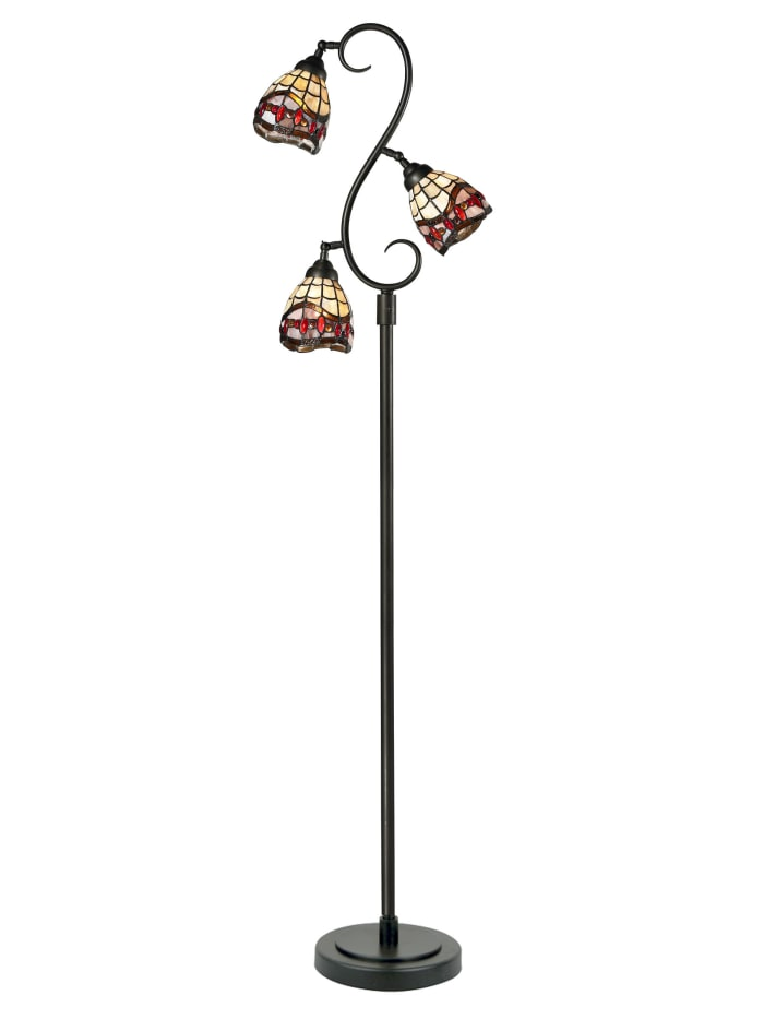 Fall River 3-Light Tiffany Floor Lamp