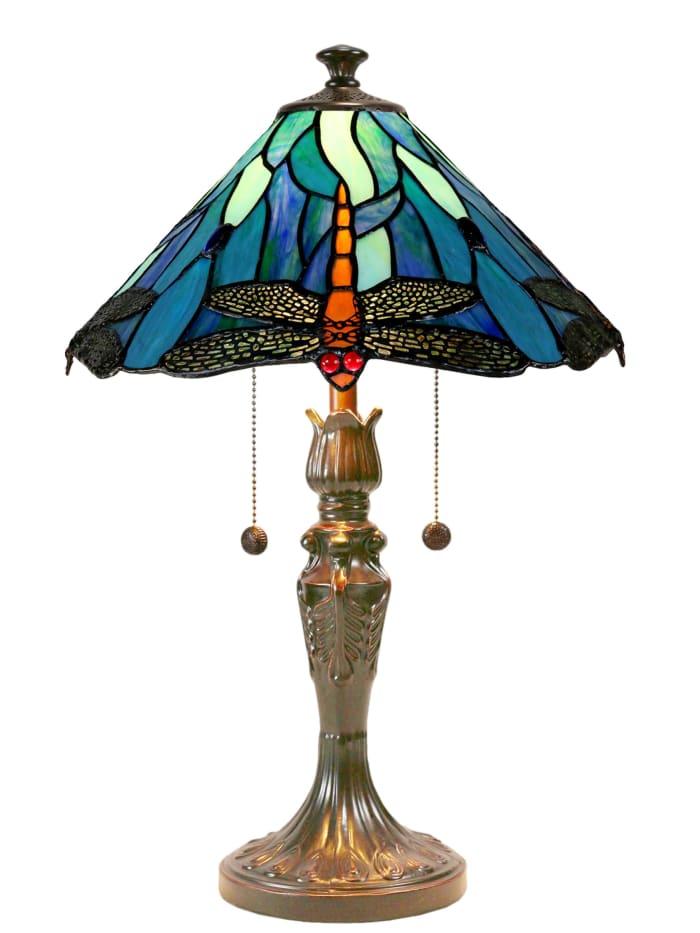 Huxley Dragonfly Tiffany Table Lamp