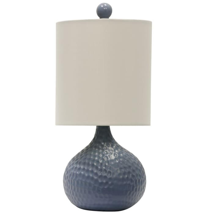 Ceramic Blue Finish Table Lamp
