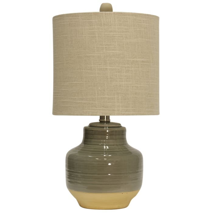 Prova Ceramic Grey Finish Table Lamp