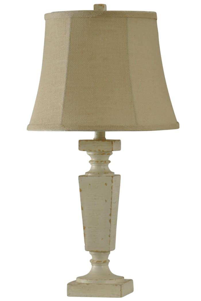 Palma Accent Cream Finish Table Lamp