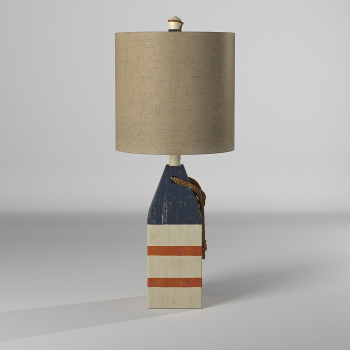 Blue And Orange Stripe Finish Table Lamp