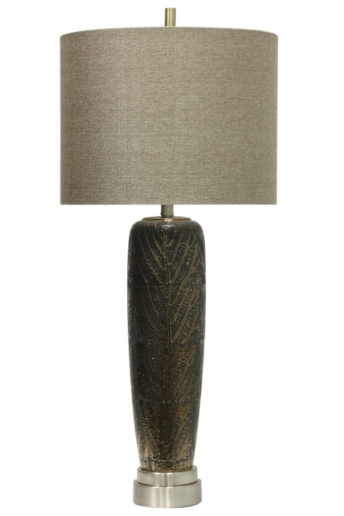 Muncie Ceramic  Black Finish Table Lamp