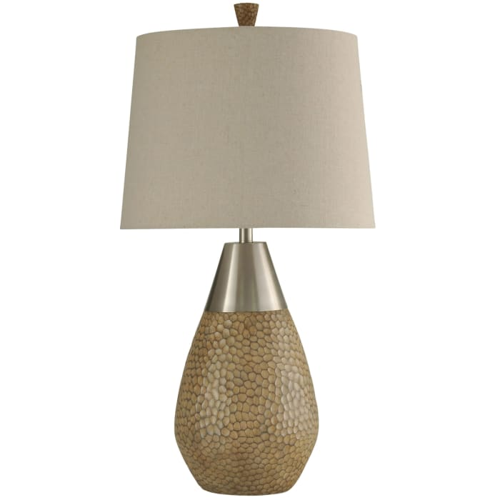 Nicobar Brown and Brushed Steel Finish Table Lamp