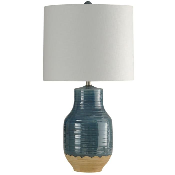 Prova Ceramic Blue Finish Table Lamp