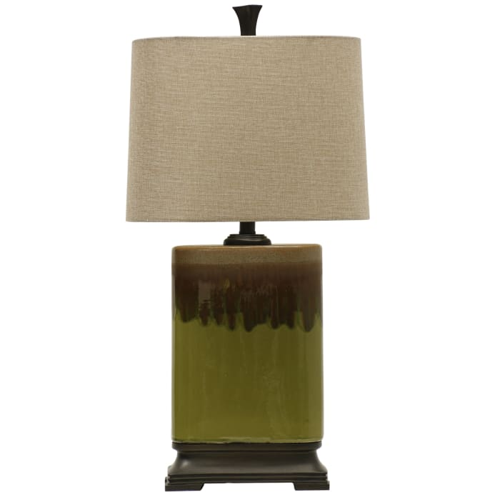 Alton Ceramic Green and Brown Finish Table Lamp