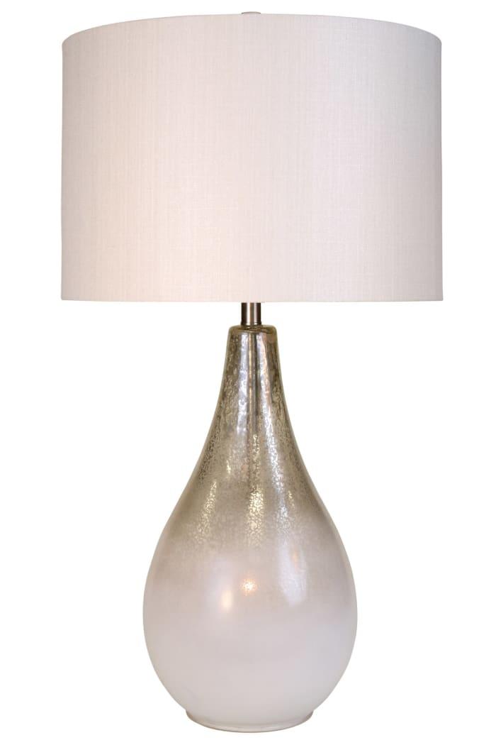 Montblanc Mercury and White Finish Table Lamp
