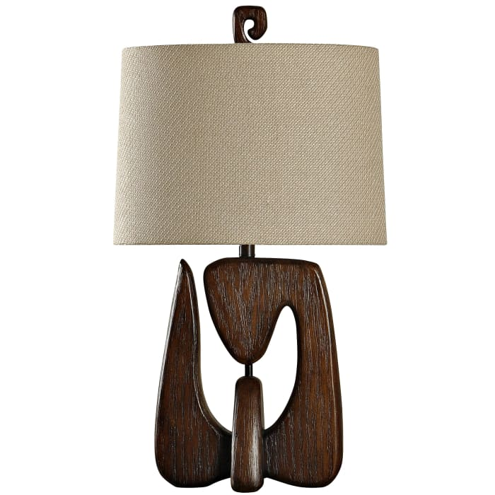 Contemporary Chestnut Finish Table Lamp