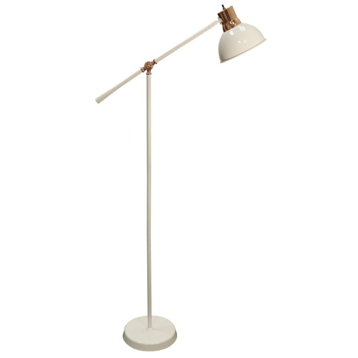White Finish Floor Lamp