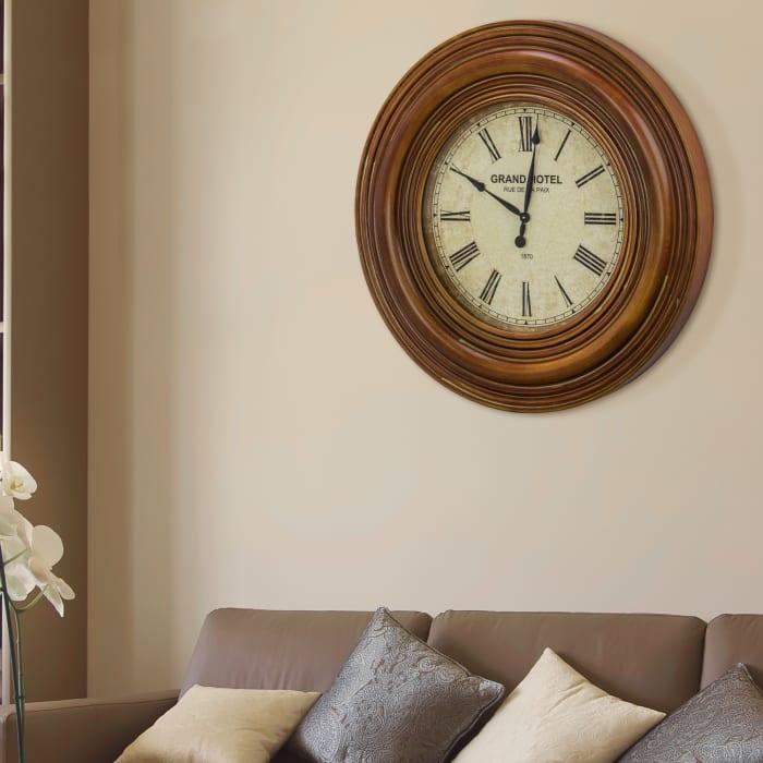 Grand Hotel Rue De La Paix Oversized Wall Clock