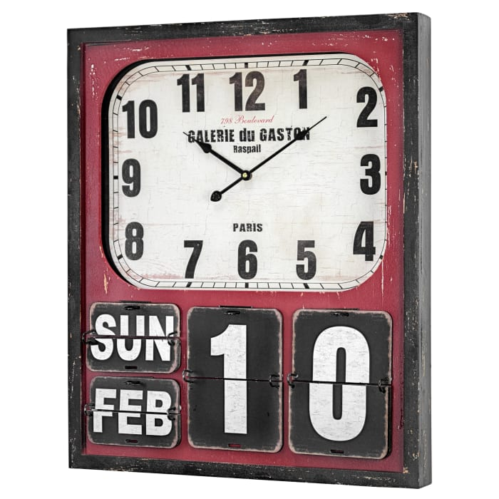Oversized Wall Clock and Calendar