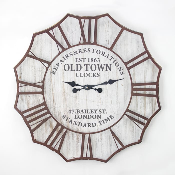 Old Town Clocks Oversized Vintage Wall Clock