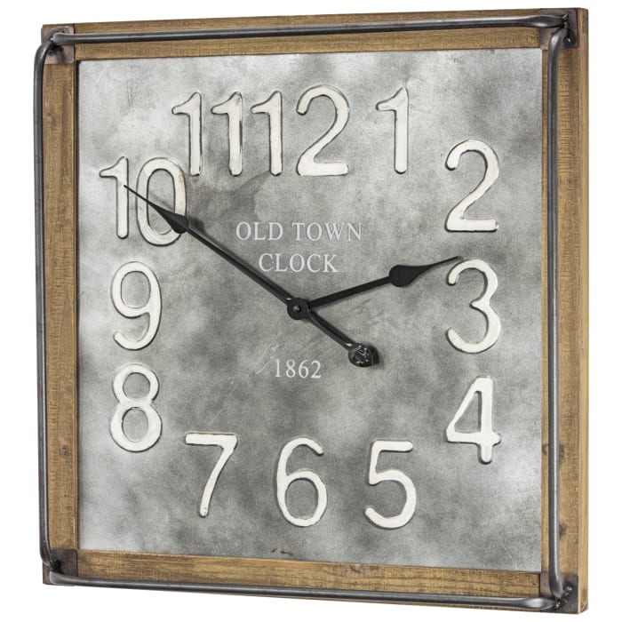 Old Town Clock 1862 Oversized Hanging Wall Clock