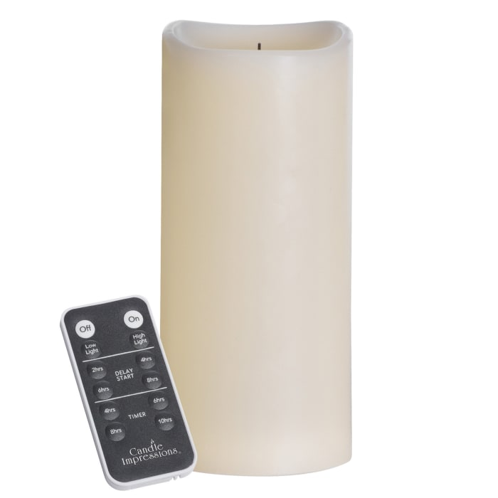 Candle impressions LED Folding Flame Pillar Candle with Remote Control
