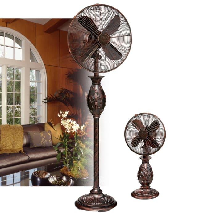 Fleur De Lis Table Fan