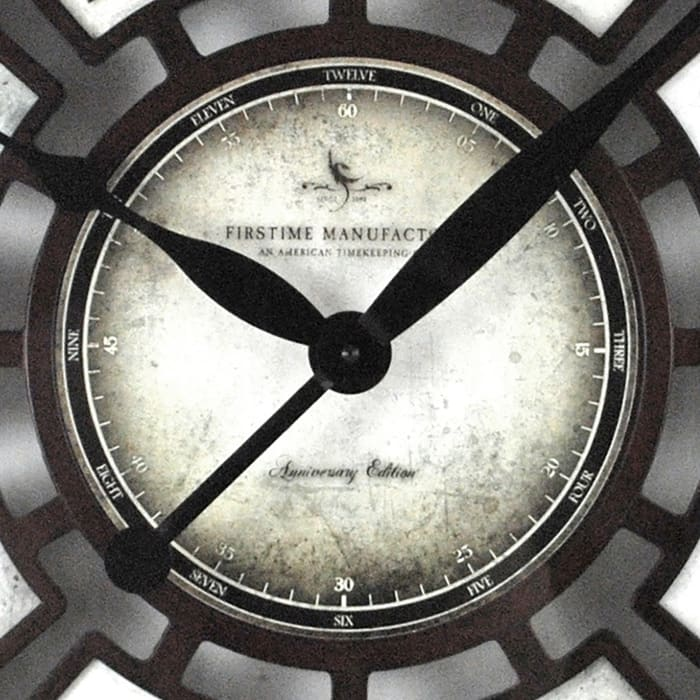 Majestic Hollow Oversize Aged Espresso Wall Clock