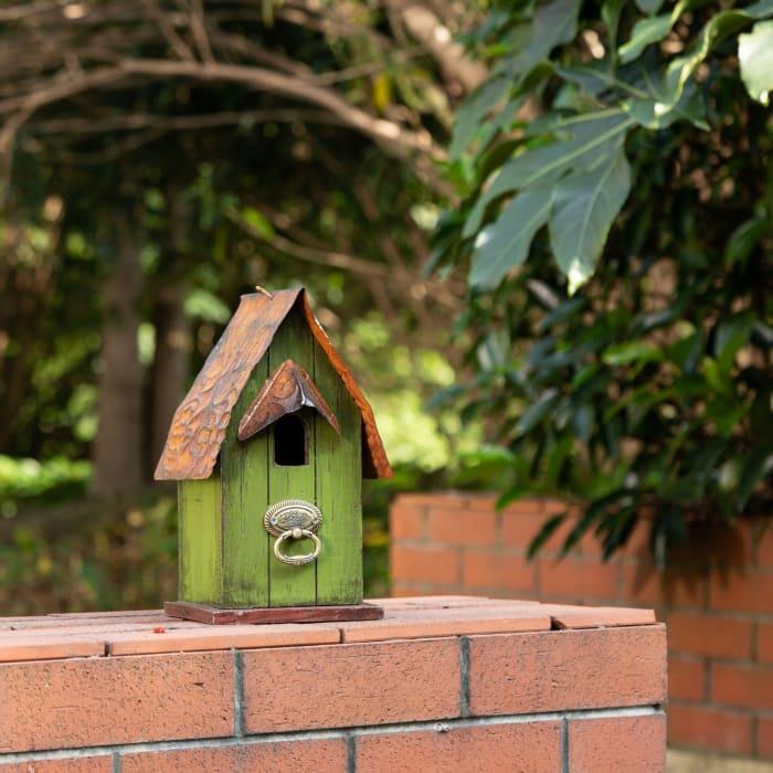 Rustic Garden Distressed Solid Wood Decorative Bird House