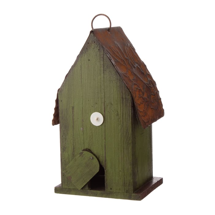 Rustic Garden Distressed Solid Wood Decorative Bird House