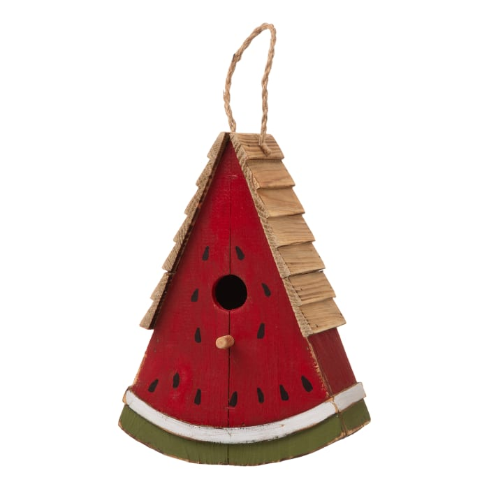 Wood Watermelon Birdhouse