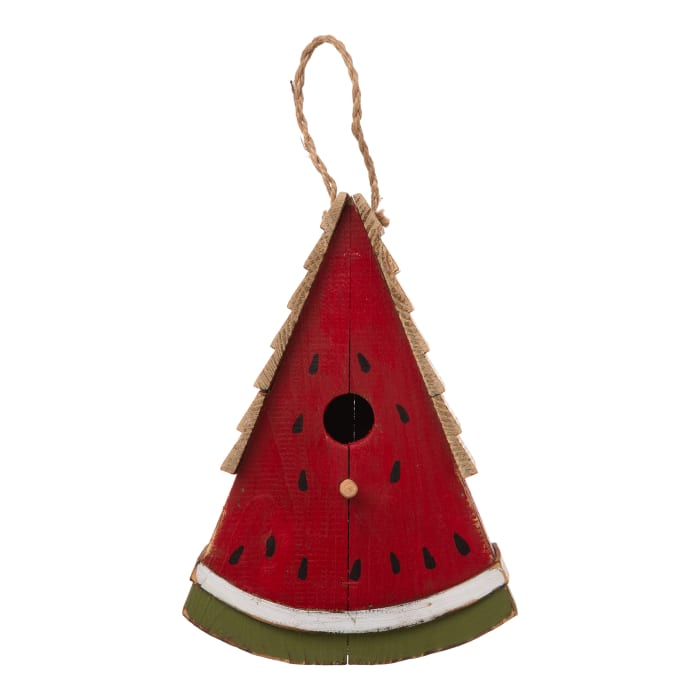 Wood Watermelon Birdhouse