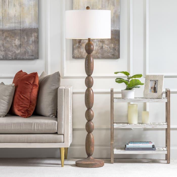 Nivan Brown Resin Floor Lamp