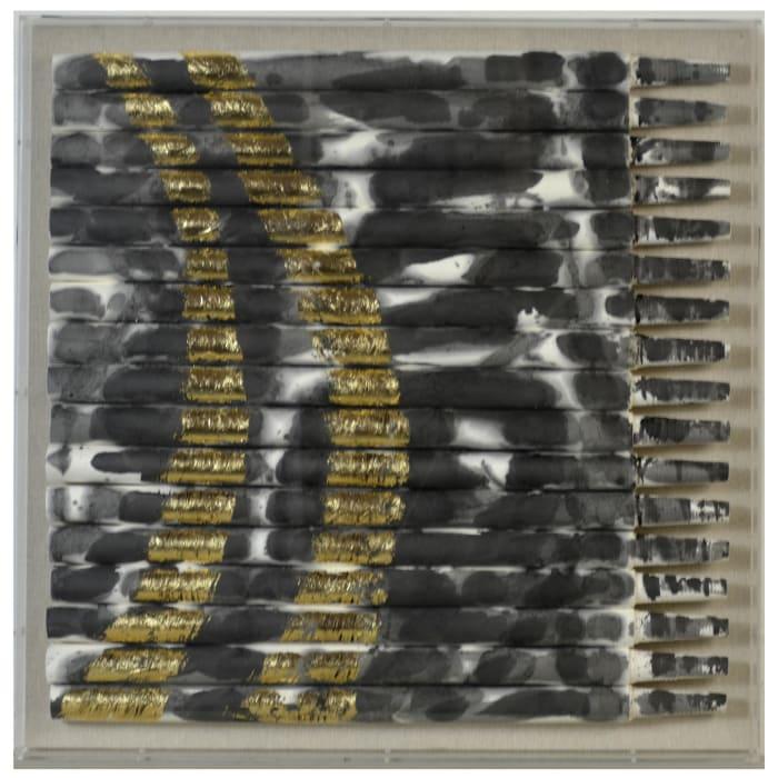 Metallique I Shadow Box Framed Wall Art
