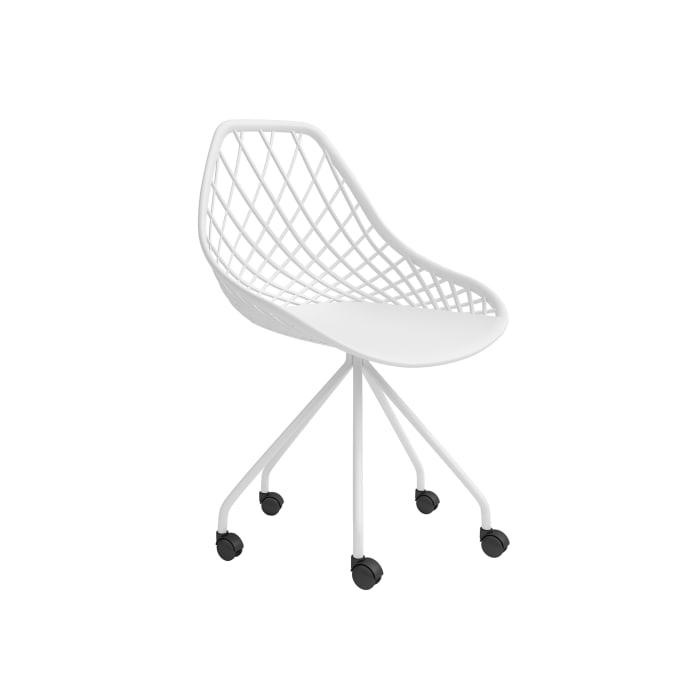 Arc White 5-Wheel Desk Chair