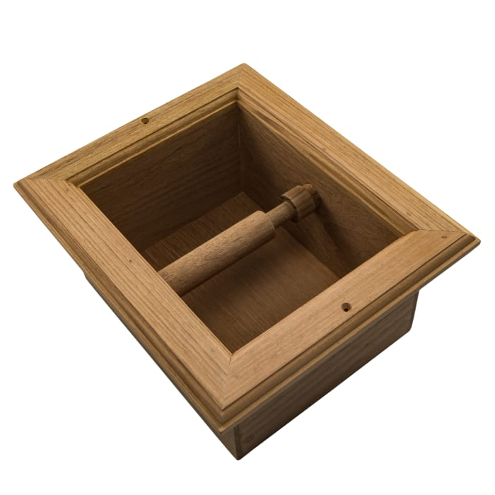 Teak Recessed Toilet Paper Holder