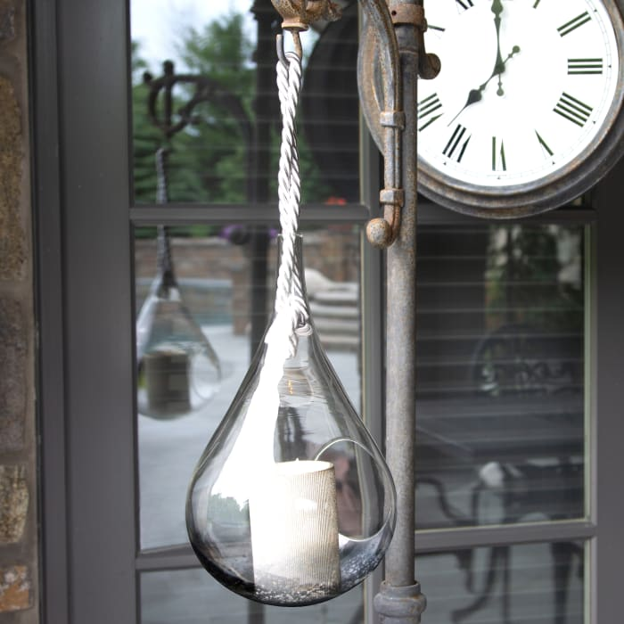 Blank Smoke Glass Lantern