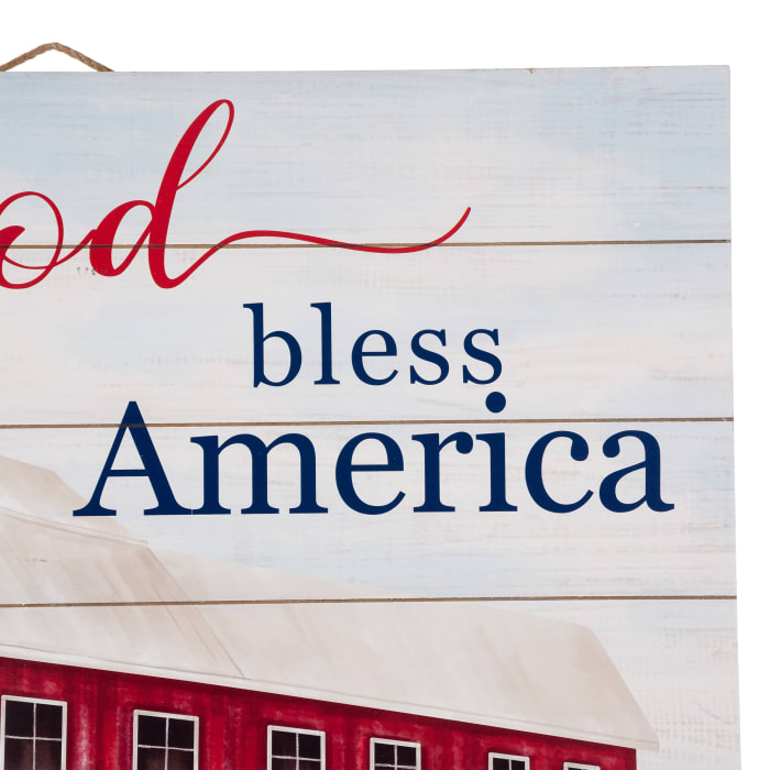 Wooden America Wall Decor