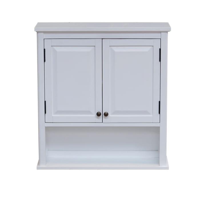White Wall Mounted Bath Storage Cabinet