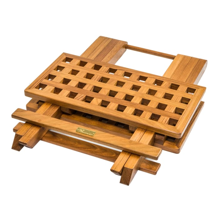 Teak Grate Top Fold Away Table