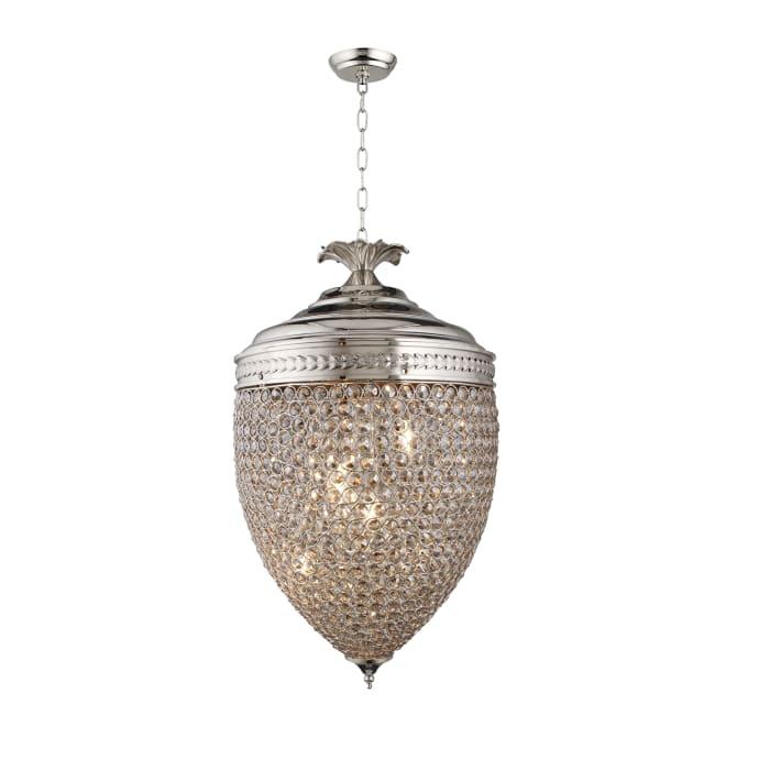 Honore Smoke Glass Bead Acorn Pendant Light