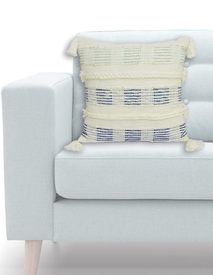 Large White Decorative Throw Pillow for Couch