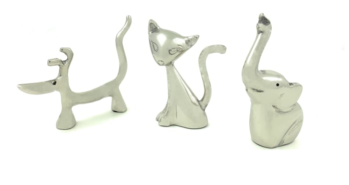 Cat, Dog, Elephant  Set of 3 Ring Holders