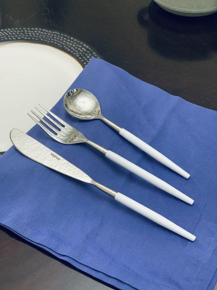 Stainless Steel White 36 Piece Flatware Set