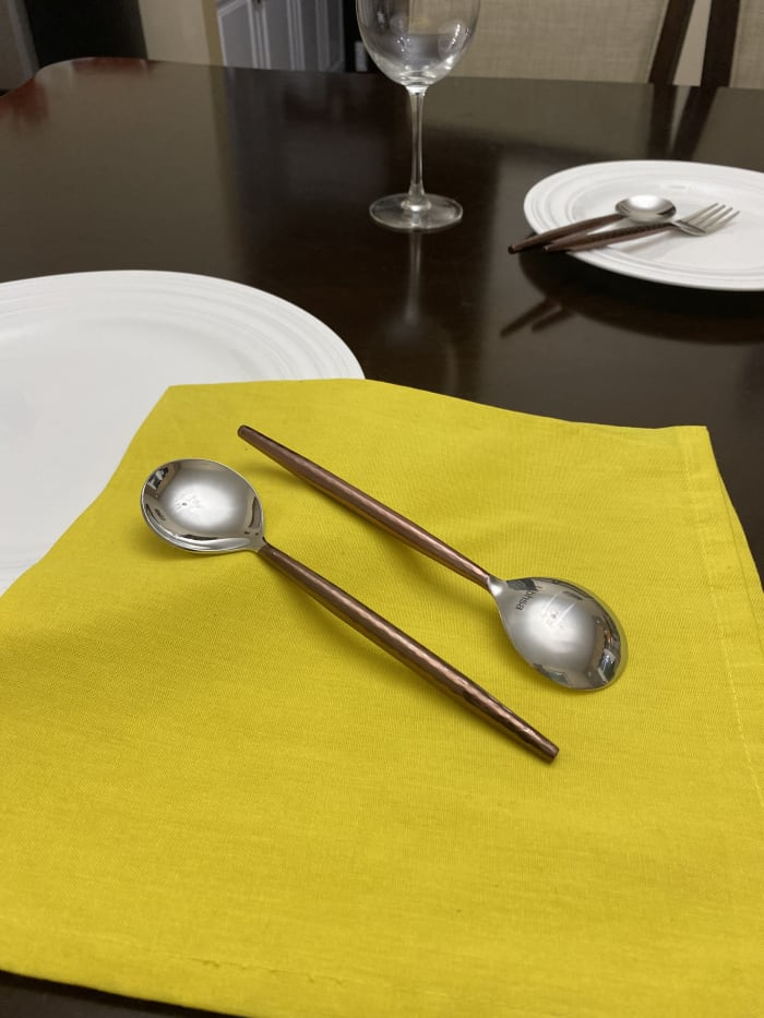 Stainless Steel Set of 6 Soup spoons