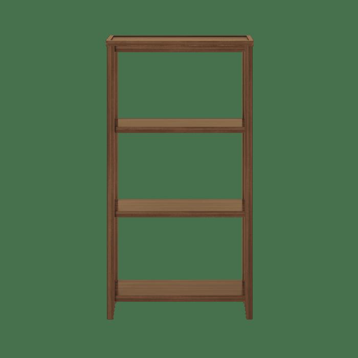 NewRidge Walnut 3-Tier Tall Wooden Bookcase