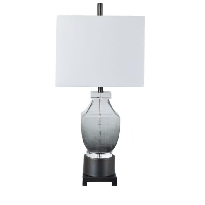 Jaden Gray Glass Table Lamp