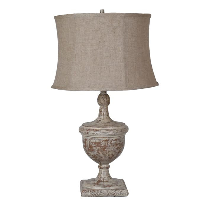 Lilith Antiqued Brown Resin Table Lamp