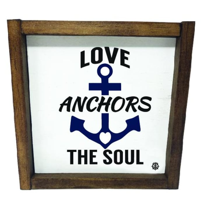 FRAMED LOVE ANCHORS THE SOUL Wall Accent