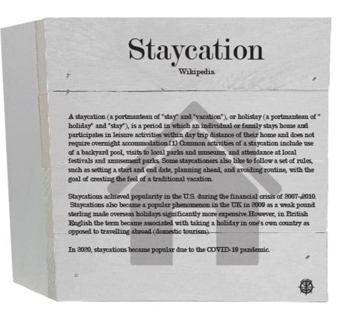 STAYCATION WIKIPEDIA Wall Accent