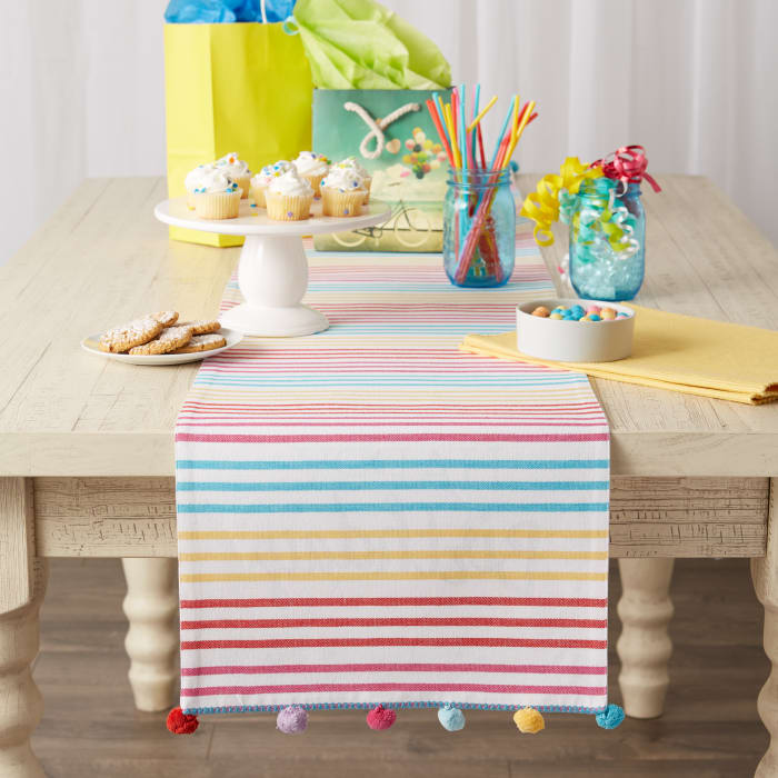 Happy Birthday Embellished Table Runner