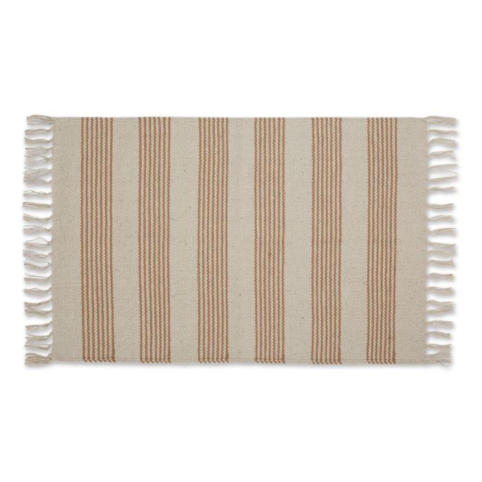 Stone Ticking Stripe Hand Loomed Rug
