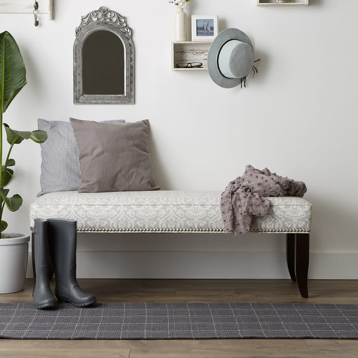 Mineral Variegated Plaid Recycled Yarn Floor Runner
