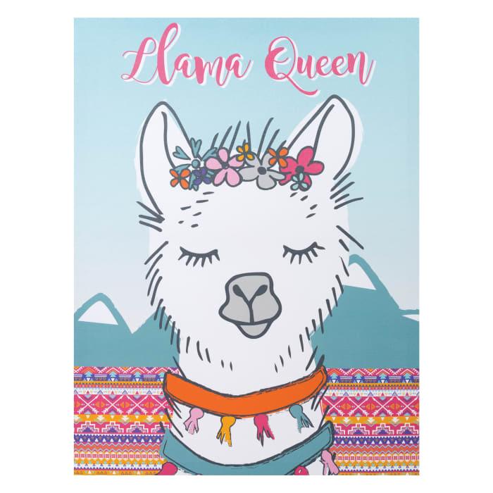 Llama Queen Canvas Wall Art