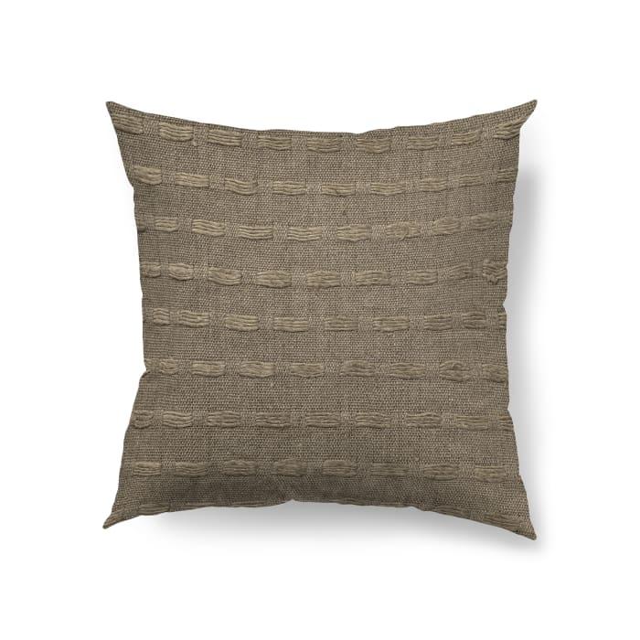 Sheena 18 x 18 Brown Woven Decorative Pillow Cover