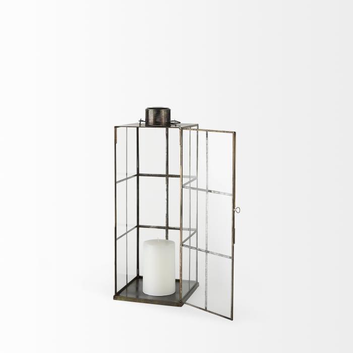 Grimwig Medium Gold Glass Lantern