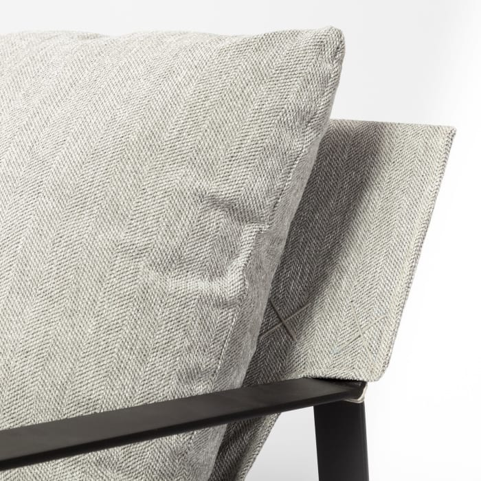 Guilia Frost Gray With Metal Frame Sling Accent Chair
